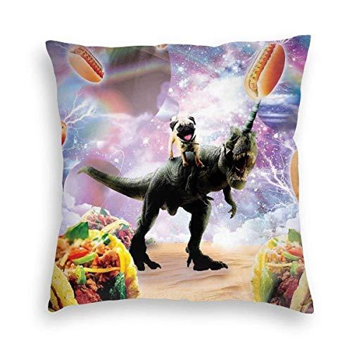 Babydo Pillow Cover Space Mops paardrijden dinosaurus Eenhoorn Taco Interieur kussensloop Sofa Vierkante stoel standaard kussenslopen Home Decor Special 45X45cm Individueel