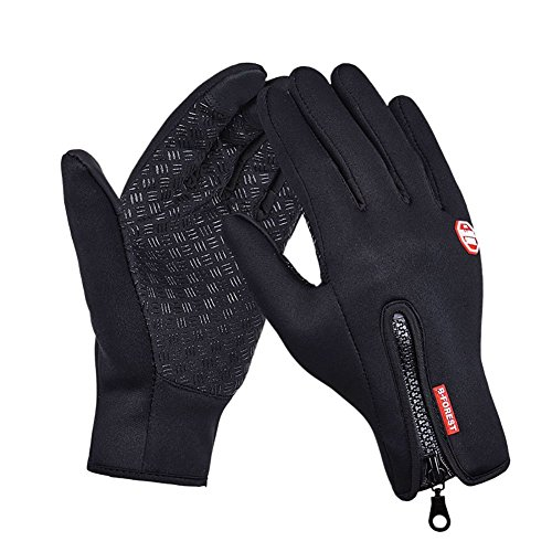 Riiya Winter Women Men Gloves Touch Screen Windproof Thermal Outdoor Ski Leisure Snowboarding Motorcycle Camping Warm Gloves