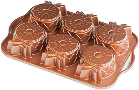 high quality Nordic Ware Pineapple discount online Upside Down Mini Cake Pan, Copper online sale