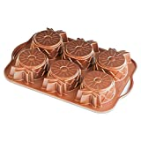 Nordic Ware Pineapple Upside Down Mini Cake Pan, Copper