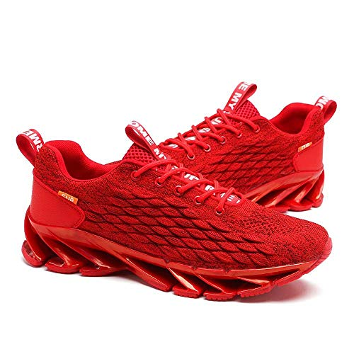 Aszeller Mens Running Shoes Blade Non Slip Athletic Walking Tennis Shoes Breathable Lightweight Fashion Sneakers
