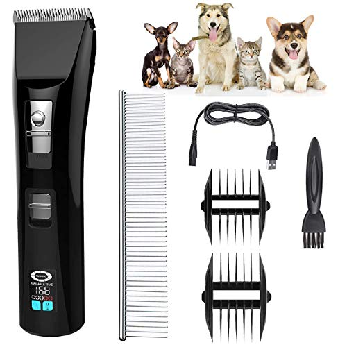 Dog Clippers, Pet Grooming Clippers, Dog Shaver...