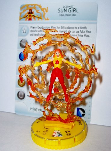 Heroclix DC Teen Titans #058 Sun Girl (Chase) Figure with Card