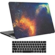 """Procase MacBook Pro 15 Case 2019 2018 2017 2016 Release A1990/A1707, Hard Case Shell Cover and Keyboard Cover for Apple MacBook Pro 15"""" with Touch Bar and Touch ID-Galaxy Fire and Ice"""