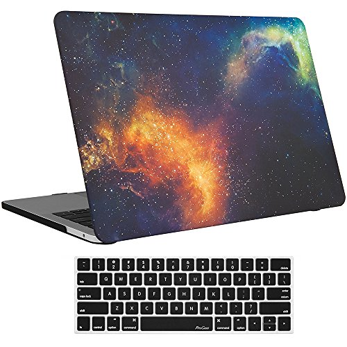 ProCase MacBook Pro 13 Case 2019 2018 2017 2016 Release A2159 A1989 A1706 A1708, Hard Case Shell Cover and Keyboard Skin Cover for MacBook Pro 13 Inch with/Without Touch Bar –Galaxy