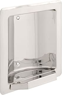 FRANKLIN BRASS 5566 Century, Bath Hardware Accessory, Recessed Soap or Tumbler Holder, Bright Stainless Steel