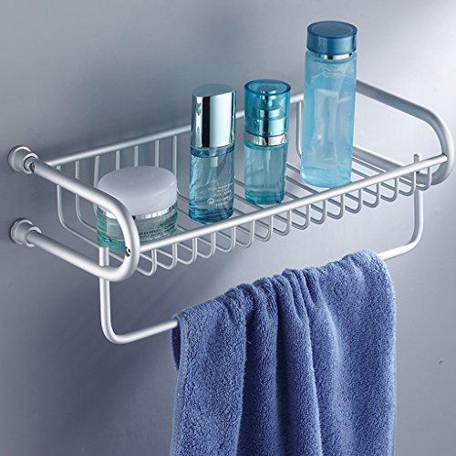 Space Aluminium U-basket Racks de salle de bains avec porte-serviettes/salle de bains (taille : 48cm)