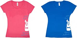 PFIFF Lama - Camiseta para Mujer, Rosa, Large