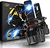 Cougar Motor X-Small H7 LED Bulb, 12000LM 6500K All-in-One Conversion Kit - Cool White, 360°Adjustable Beam - Halogen Replacement Pack of 2