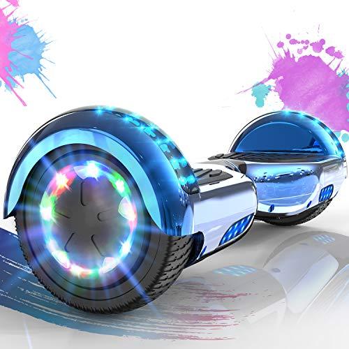 SOUTHERN WOLF Hoverboards de 6,5 Pulgadas con Luces LED de Rueda de Colores, Scooter eléctrico con Motor de 2 * 357 W, Scooter autoequilibrado con Bluetooth para Regalo para niños