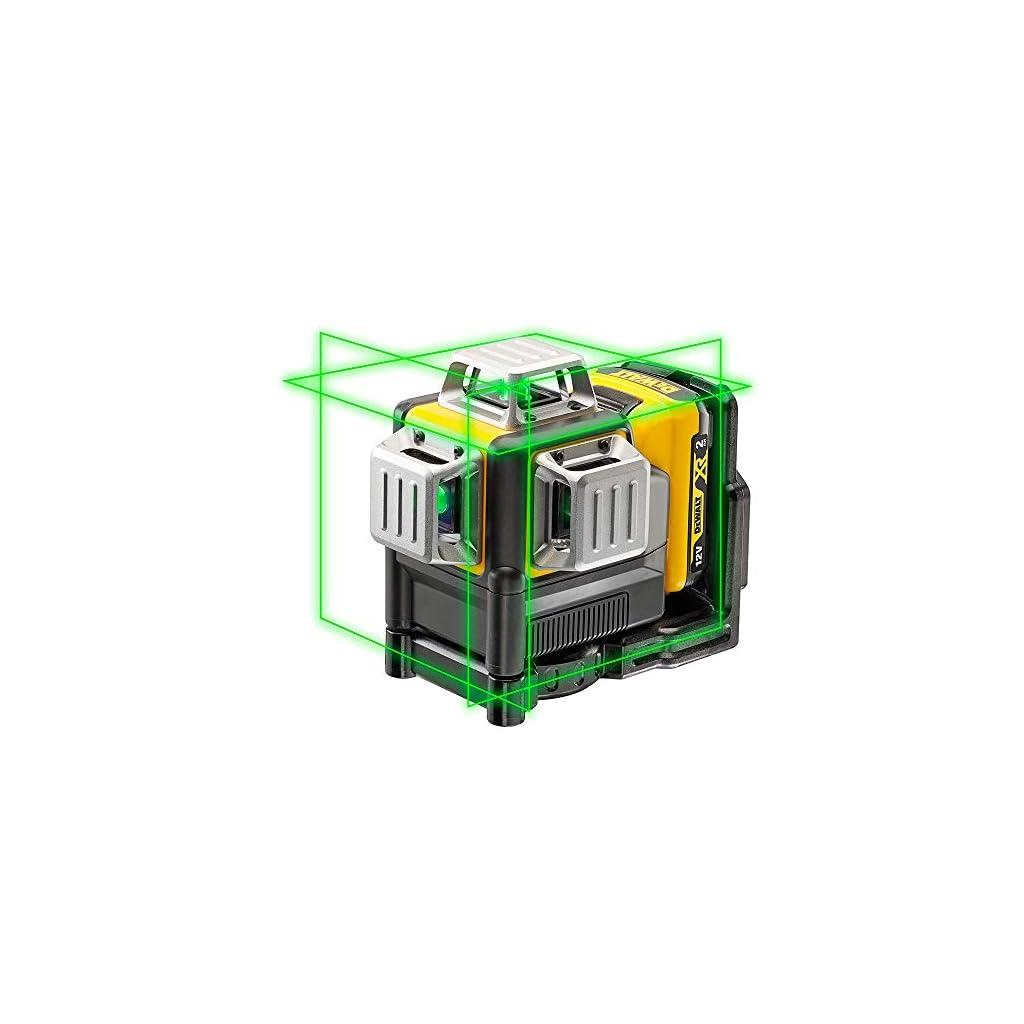 DeWalt – Laser Multilignes 3×360° 12V Li-Ion 2Ah – Niveau Laser Autonivelant 4° sans Fil avec Faisceaux Verts…