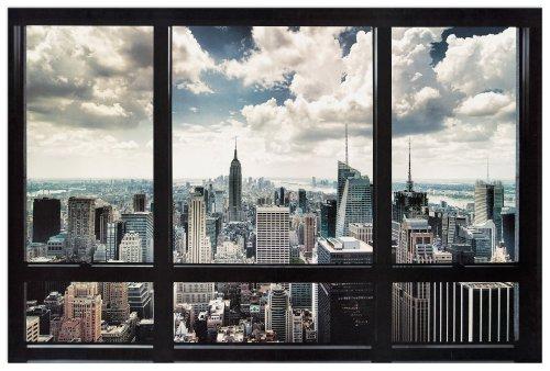 Artopweb EC22121 New York - Window, Bois, 90x60x1,8 cm