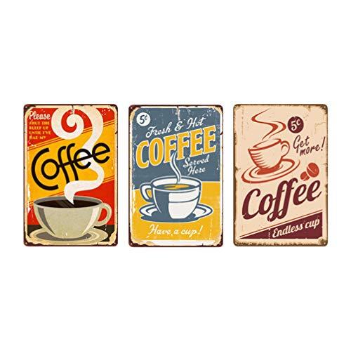 Placa Metal Vintage Coffee  marca CLISPEED