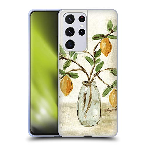 Head Case Designs Officially Licensed Haley Bush Lemon Branch Vase Floral Painting Soft Gel Case Compatible with Samsung Galaxy S21 Ultra 5G