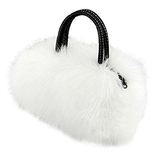 2de7ed9a27 CrossBody Bag Nodykka Shoulder Bags Faux Fur Clutches Women Top-handle Purse  Handbags