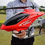 Ycco RC Drone Toy for Kids Teenage Boys Gifts USB Charging Cable Remote Control Helicopter Toys with LED Stabilizing System Indoor/Outdoor RC Helicopter 3.5 Channels (Red) ( Color : Red-2 )