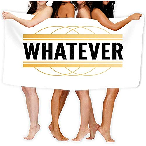 Yocmre Beach Towel Pool Spa Handdoek voor Volwassen Slogan Wat Phrase Grafische Print Mode Lette