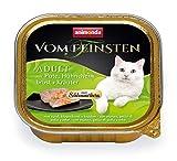 Comida para gatos animonda Vom Feinsten Adult, comida húmeda para gatos adultos, relleno gourmet con pavo, pechuga de pollo + hierbas, 32 x 100 g