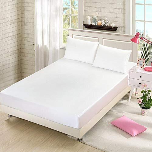 HPPSLT Protector de colchón - cubrecolchón Transpirable Sábana de una Sola Pieza-White_150 * 200 + 25cm