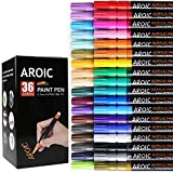 AROIC 36 Pack Acrylic Paint Pens——writing on any material, Rock, Ceramics, Glass, Wood
