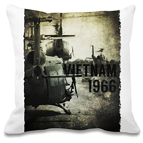 Harma Art Vietnam Hubschrauber - Vietnam Helicopter Decorative Pillow Case - 100% Soft Polyester Cushion Cover - Decorative Bedding Accessories