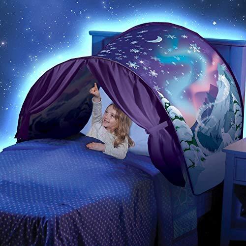 Kids Dream Bed Tents Pop-up Play Tent - Space Adventure & Unicorn Fantasy & Dinosaur Island & Winter Wonderland & Universe Soar & Cloud&Moon & Tent Light (Winter Wonderland)
