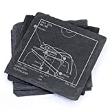 Greatest Bulls Plays - Slate Coasters (Set of 4)