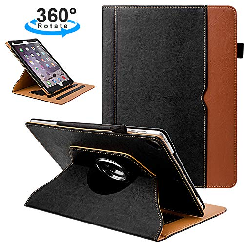 Grifobes iPad 7th Generation Case,iPad 10.2 2019 Case,Premium Pu Leather 360 Degree Rotating Stand Folio Cover Protective Case with Auto Wake/Sleep for iPad 10.2 inch 2019 Release (Black)