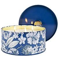 【CADEAU EXQUIS】: Le motif floral bleu royal ajoute une touche spéciale aux bougies en étain contemporaines, faisant de ces articles un magnifique décor pour la maison et de superbes cadeaux pour la fête, le Noël, le mariage, l'anniversaire et le nouv...