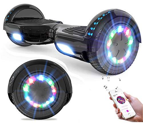 GeekMe Hoverboard, Scooter eléctrico de 6.5' Dual Motors 2 Ruedas de Equilibrio automático Scooter Board con Luces LED Bluetooth Modelo,Regalo