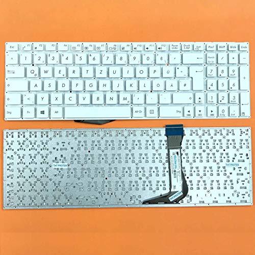 kompatibel für Asus EeeBook E502 DEUTSCHE - Weiß Tastatur Keyboard ohne Rahmen