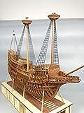 SIourso Maquetas De Barcos Kits De Modelo De Barco Kit De Modelo De Buque De Guerra con Marco De Costilla Completa Flor De Mayo Modelo De Velero De Madera 1620