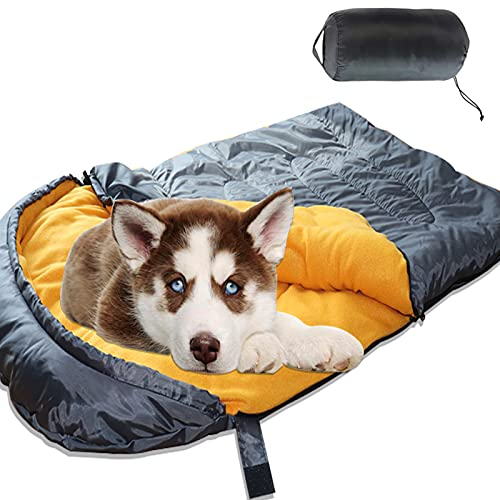 Lifeunion Dog Sleeping Bag Waterproof Warm Packable Dog Bed for Travel Camping Hiking Backpacking...