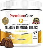 Allergy Relief Immune Supplement For Dogs - Made In USA - Vet Approved - Treats Allergies, Skin Itch, And Hot Spots - Provides Itch Relief, Promotes Skin & Coat, & Improves Digestion - 120 Chew Treats