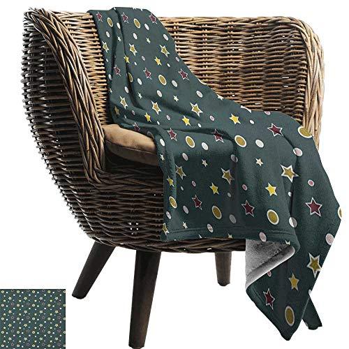 ZSUO picknickdeken Bos Groen, Abstract Patroon met Color Wave in Groene tinten en Ombre Effect Bos Groen Lichtgroen Alle seizoenen Licht Gewicht Woonkamer/Slaapkamer