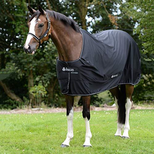 BUCAS Shamrock Power Pferdedecke, schwarz/silber, 145 cm