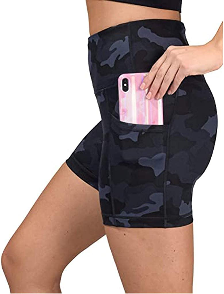 Handyulong Womens Shorts High Waist Pants Camo Workout Max 85% OFF low-pricing Athletic