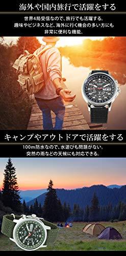 LADWEATHER(ラドウェザー)『電波ソーラー腕時計ミリタリーウォッチ(lad017)』