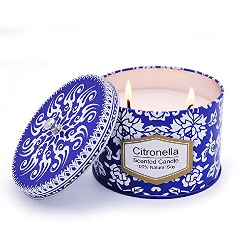 Outdoor Citronella Candles 8.5oz Soy Wax Centranella...