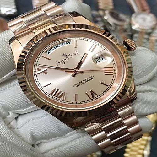 DFGHU Herrenuhr Automatikaufzug Mechanische Uhr Saphirglas Digitaluhr Mode Business Uhr 41Mm