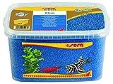 Sera Gravel Blue (Ø 2 – 3 mm) – Azul Aquarienkies o Farbgrava para Todos los acuarios – Libre de contaminantes – Adecuado como Garnelenkies