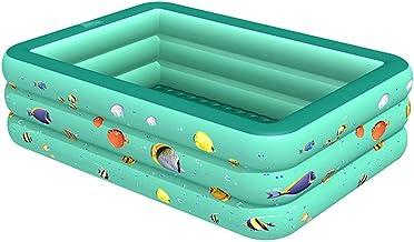 WTTCD Piscina Inflable De Tres Capas Fondo Grueso De Burbuja De Doble Capa Piscina Inflable De Verano para Niños 180 * 130 * 55 Cm Jardín Al Aire Libre-210 Cm