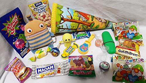 101674 gefüllte Schultüte 22cm Sorgenfresser Om mit Spielsachen als Geschenk zum Schulanfang Geschwistertüte