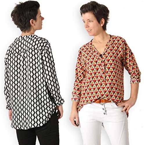 leni pepunkt Schnittmuster Bluse Damen in den Größen 32-58 zum Nähen mit Nähanleitung und 5 Webetiketten