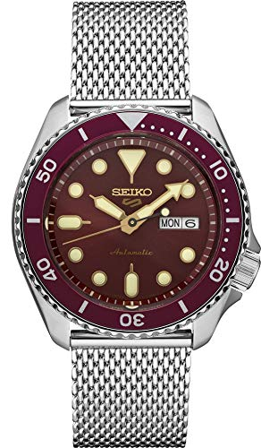 Seiko Men's 5 Sports Automatic Watch with Stainless Steel Strap, Silver, 22 (Model: SRPD69)