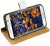 mumbi Cover Case - Funda para móvil Samsung Galaxy S6 Edge, Blanco