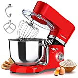 Stand Mixer, POWWA 6 Speed Kitchen Electric Mixer, 660W Tilt-Head Food Stand Mixers with 7.5 Quart...