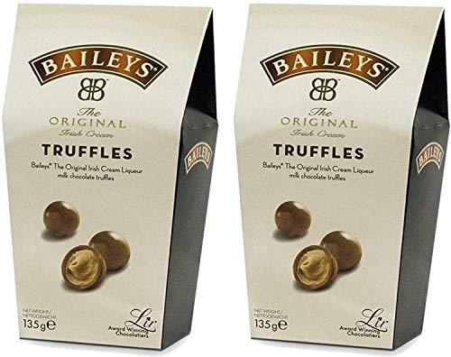 Baileys Irish Cream Twist avvolge il tartufo al cioccolato al latte in una scatola, 135 grammi per scatola (2 scatole)