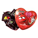 Valentine's Day Heart Shaped Gift Tin with Fun Size Milk Chocolate M&M's Candy, Color May Vary, 3.66 Ounce