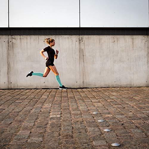 CEP – Run Socks 3.0 für Damen | Kompressionsstrumpf mit präzisem Druckverlauf in blau/grau | Größe II - 6